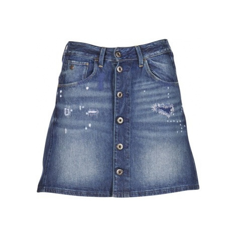 G-Star Raw ARC BTN A-LINE women's Skirt in Blue