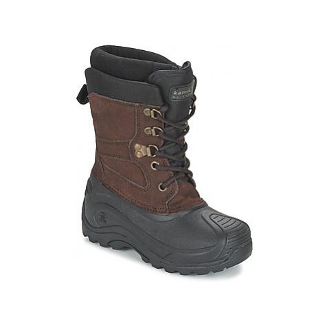KAMIK NATIONJR girls's Children's Snow boots in Brown