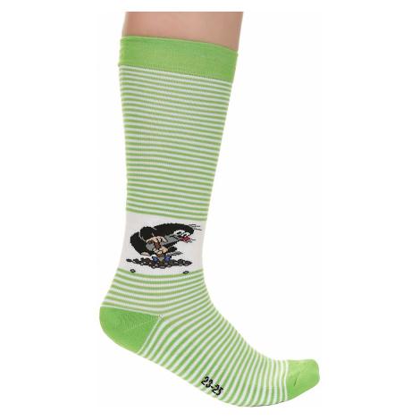socks Boma Krtek Long - Stripe Green/White