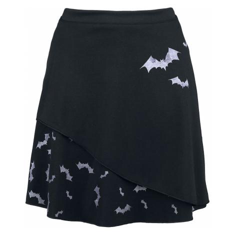 Outer Vision Pastel Bats Short skirt black