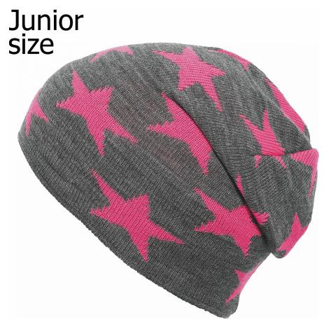 cap Eisglut Starlet - Grau Meliert/Neon Pink - unisex junior