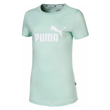 Puma ESS LOGO TEE G light green - Girls' sports T-shirt