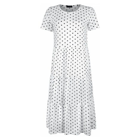 QED London White Tiered Smock Dress Long dress white