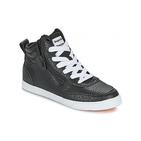 Superdry NANO ZIP HI TOP SNEAKER women's Shoes (High-top Trainers) in Black