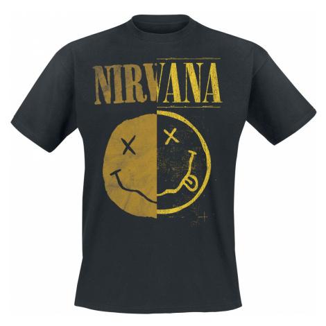 Nirvana Spliced Smiley T-Shirt black