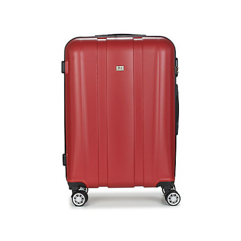 David Jones CHAUVETTO 72L men's Hard Suitcase in Red