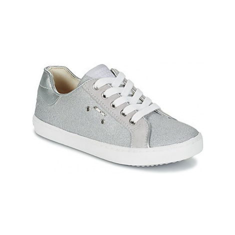 Geox J KIWI G.B girls's Children's Shoes (Trainers) in Grey