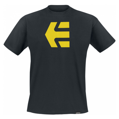 Etnies - Icon Tee - T-Shirt - black-yellow