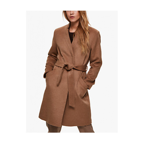 Selected Femme Mella Belted Wool Blend Coat, Tigers Eye