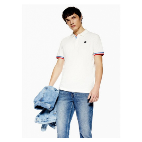 Mens Jack & Jones White Polo T-Shirt, White