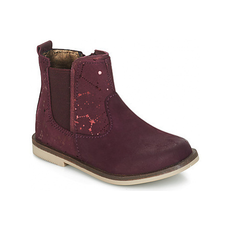 Kickers MOON girls's Children's Mid Boots in Bordeaux