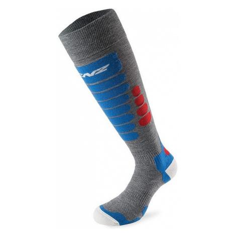 socks Lenz Skiing 3.0 - Gray/Red/Blue