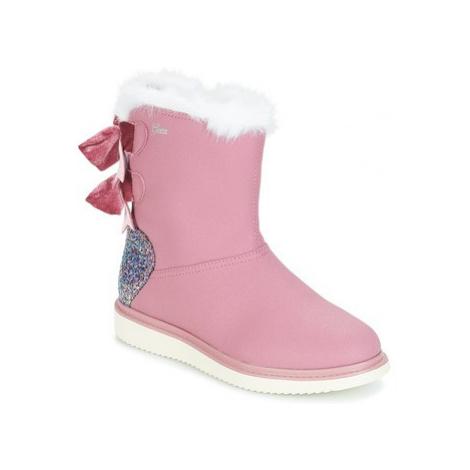 Geox J THYMAR GIRL girls's Children's Mid Boots in Pink