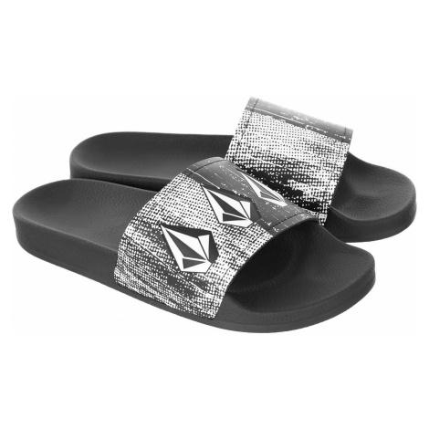 shoes Volcom Dont Trip Slide - Black/White - men´s