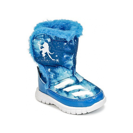 Adidas DISNEY REINE DES NEIGES MID I girls's Children's Snow boots in Blue