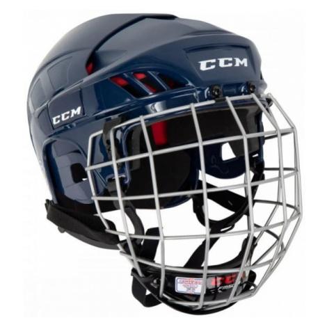 CCM 50C HF COMBO SR blue - Hockey helmet