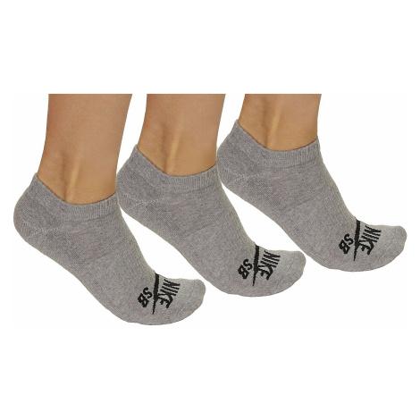 socks Nike SB 3PPK No Show - 004/Dark Gray Heather/Black