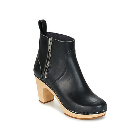 Swedish hasbeens ZIP IT SUPER HIGH women's Low Ankle Boots in Black