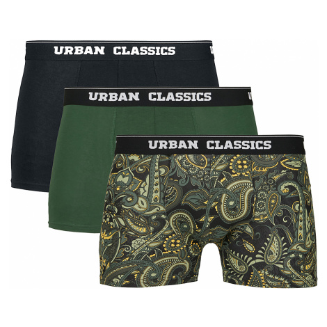 Urban Classics - Boxer Shorts 3-Pack - Boxers - black-green