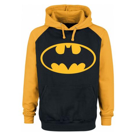 Batman Logo Hooded sweater black yellow