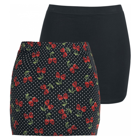 Rock Rebel by EMP - The Double Life - Skirt - black