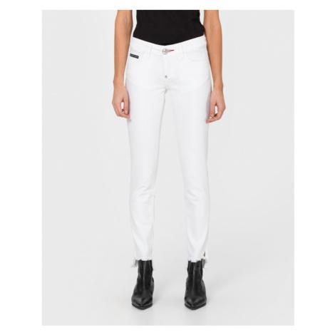 """Philipp Plein BoraBora """"Greedy"""" Jeans White"""