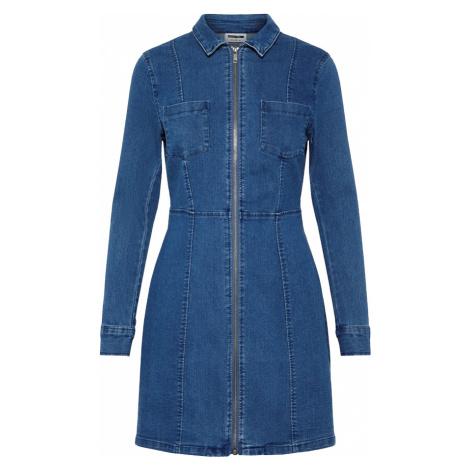 Noisy May - Lisa Denim Zip Dress - Dress - blue