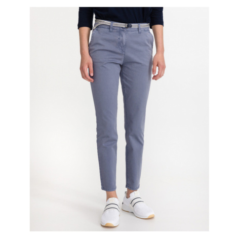 Tom Tailor Trousers Blue Grey