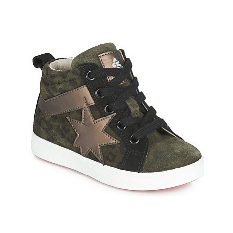 Acebo's 5302SL-KAKI-T girls's Children's Shoes (High-top Trainers) in Kaki