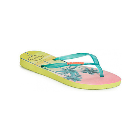 Havaianas SLIM PAISAGE women's Flip flops / Sandals (Shoes) in Yellow