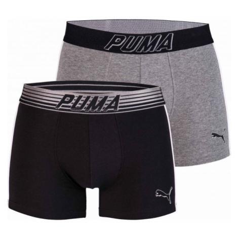 Puma BOLD PUMA CAT BOXER 2P grey - Men's boxer shorts