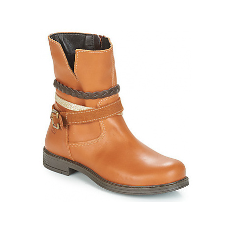 Citrouille et Compagnie FURAMO girls's Children's Mid Boots in Brown