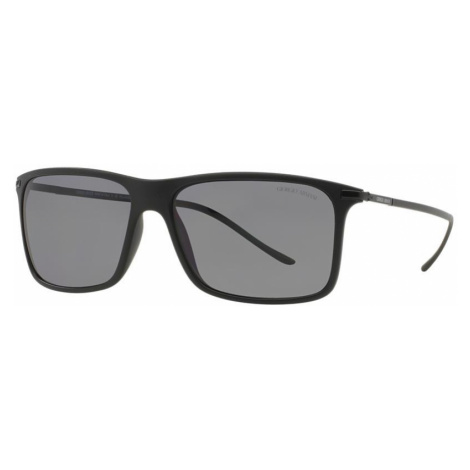 Giorgio Armani Man AR8034 - Frame color: Black, Lens color: Grey-Black, Size 57-14/145