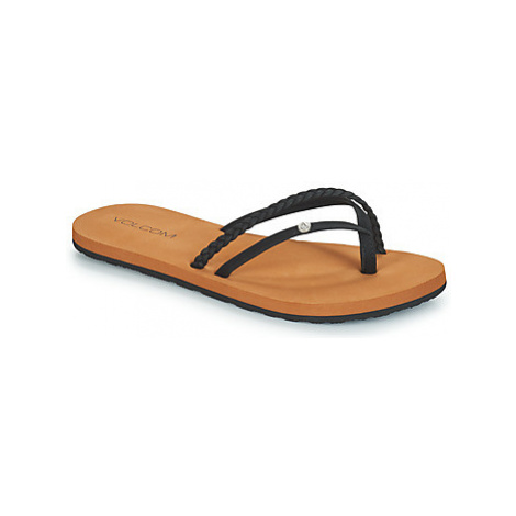 Volcom THRILLS women's Flip flops / Sandals (Shoes) in Black