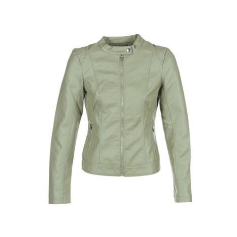 Vila VIAYA women's Leather jacket in Green