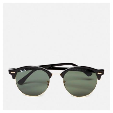 Ray-Ban Clubround Flat Lenses Half Metal Frame Sunglasses - Black