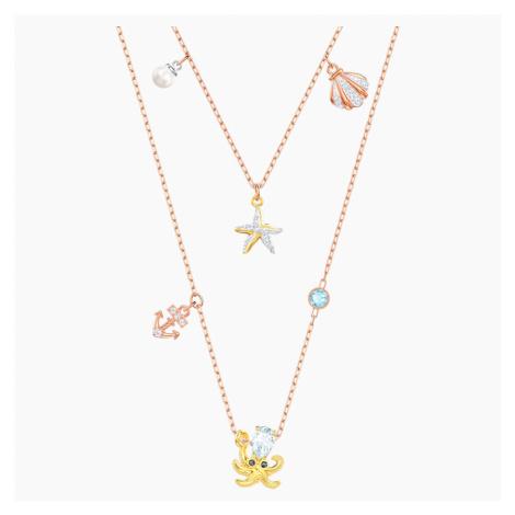 Ocean Necklace, Multi-coloured, Mixed plating Swarovski