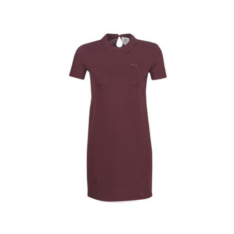 Lacoste EF8223 women's Dress in Bordeaux