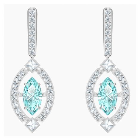Swarovski Sparkling Dance Pierced Earrings, Green, Rhodium plated