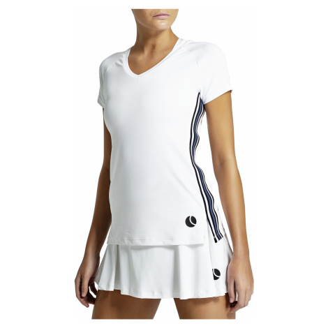 TESIA V-NECK TEE Brilliant White Bjorn Borg