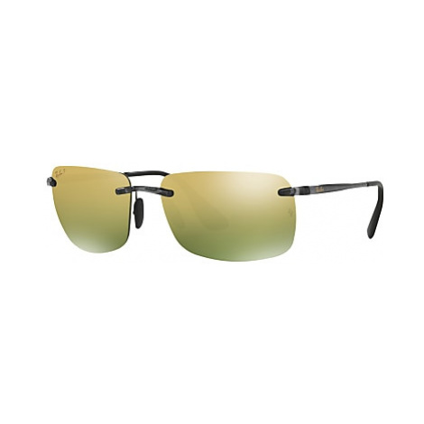 Ray-Ban RB4255 Polarised Chromance Rectangular Sunglasses