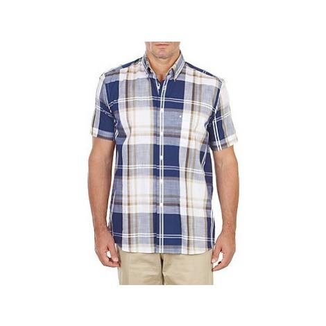 Pierre Cardin CH MC RAYURE FLAMMEE men's Short sleeved Shirt in Blue