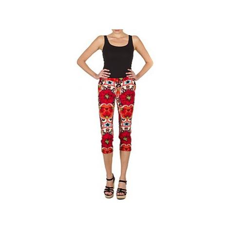 Manoush PANTALON POPPY women's Cropped trousers in Red