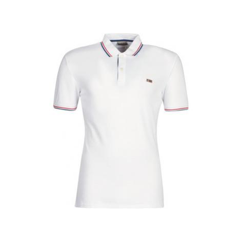 Napapijri TALY STRETCH STRIPE men's Polo shirt in White