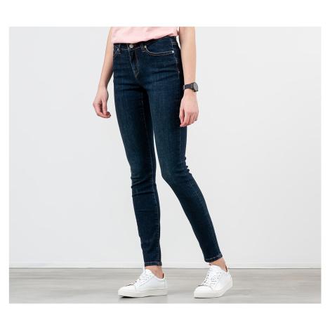 SELECTED Mid Waist Skinny Fit Jeans Dark Blue Denim