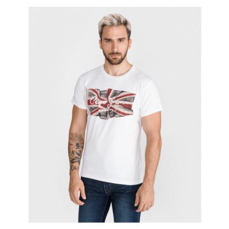 Pepe Jeans Flag T-shirt White