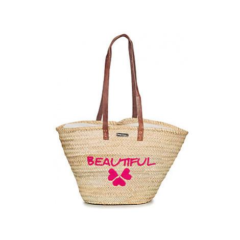 Les Tropéziennes par M Belarbi CALVI 03 women's Shopper bag in Beige