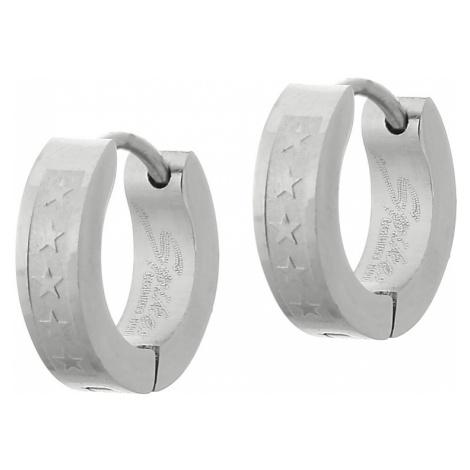 earrings Body Art 05SSE-009 - Silver/5 Stars