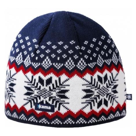 Kama A137-108 MERINO HAT blue - Men's knitted hat