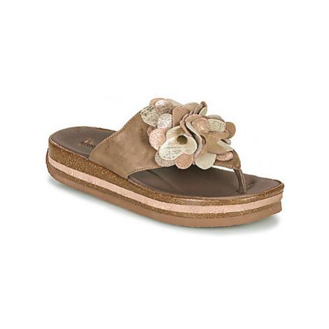 Think ZEGA women's Flip flops / Sandals (Shoes) in Beige